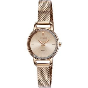 Citizen Women's Quartz Watch, Rose Gold-tone Mesh with Rose Dial