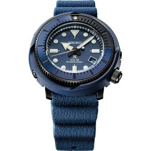 Mens Solar Blue Case Blue Dial