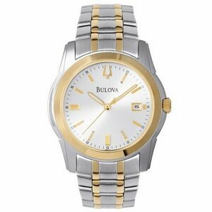 Bulova Men's Bracelet Silver Dial 2-Tone Watch