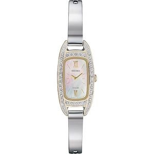 Seiko Women's Silver-Tone Crystal Watch