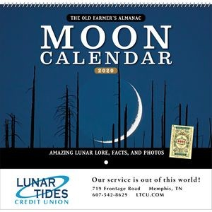 2020 The Old Farmer's Almanac Moon - Spiral