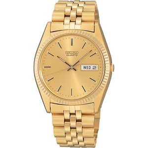 Seiko Men's Gold-Tone Solar Watch