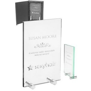 Mid Size Chroma Glass Awards with Double Stand