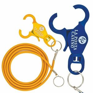 "Card Keeper Casino Bungee Lanyard - Lobster Claw w/ 12"" Cord (Super Saver)"