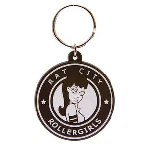 "Soft PVC Key Tag 2D on 1 Side (Super Saver - Up to 1.55"" Diameter)"