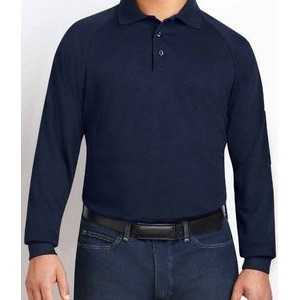 Men's Long Sleeve Classic Polo 3 Button Placket