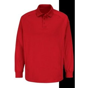 Unisex Dimension Polo w/ Long Sleeve (Red)