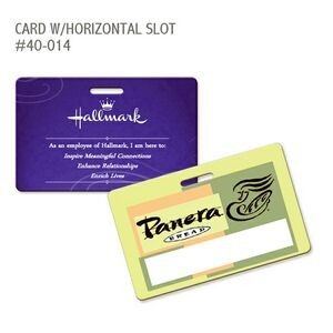 Plastic Card Horizontal with Slot - Manufactured in the USA